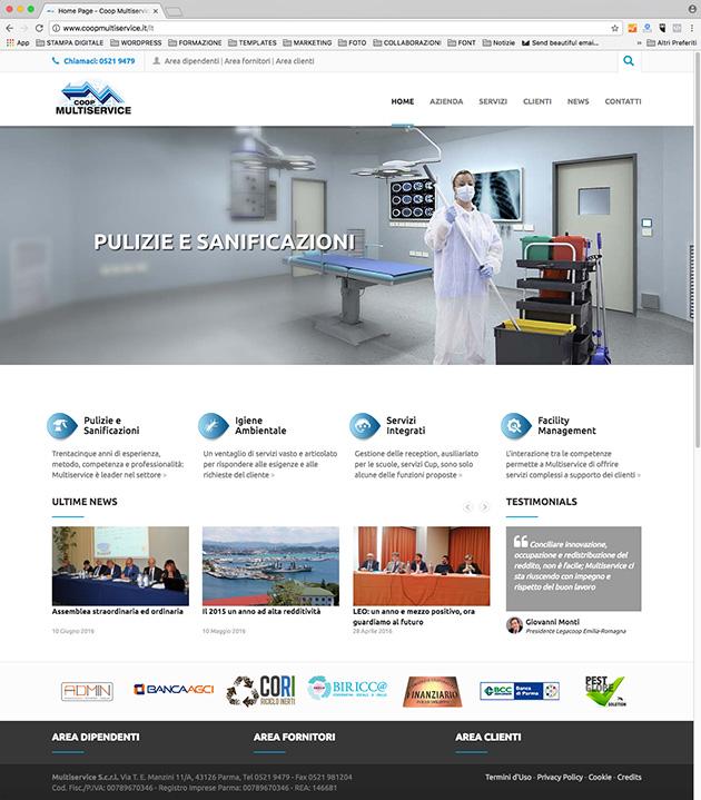Pubblicato il nuovo sito della cooperativa Multiservice scrl